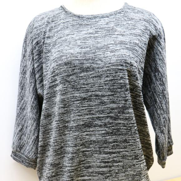 Cathy Daniels Sweaters - Woman's XL Black & White W/ Silver Sweater